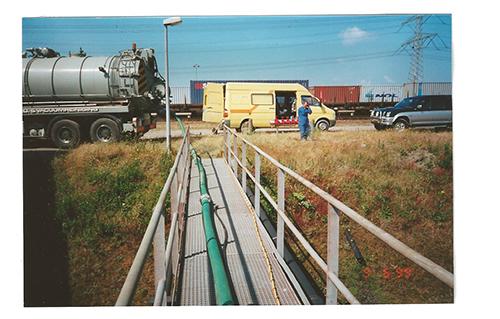 maastoren leeg gepompt door Adan Installatie bedrijf